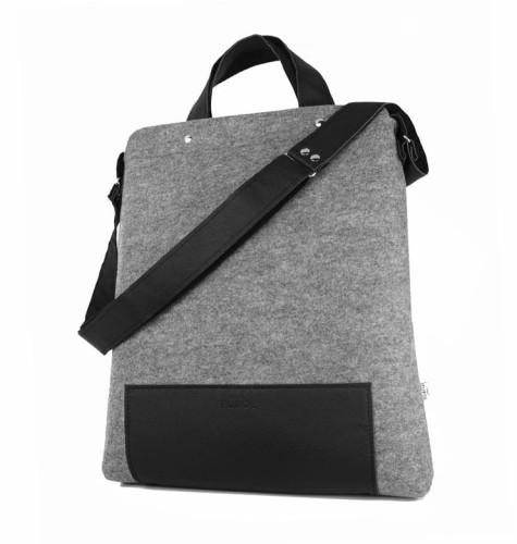 e11e5ea50dd92 Damska duża Torebka z filcu na laptopa Maxi Black torby filcowe na ...
