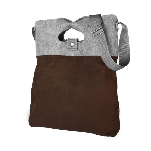 ecf591ce59aa8 Torba na ramię worek bordo torebka filcowa od projektantki