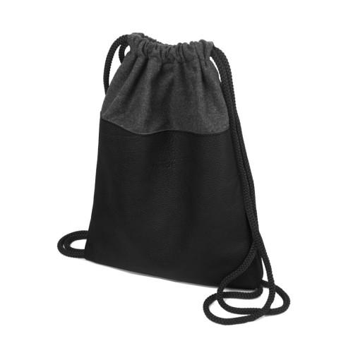 3eea44ff476bb Skórzany plecak worek czarny designerskie worki plecaki torebki ze ...
