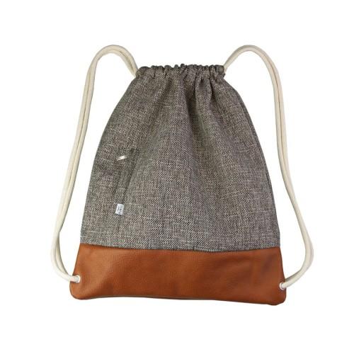 0bab17e2638c8 Skórzany plecak worek brązowy designerskie worki plecaki torebki ze ...