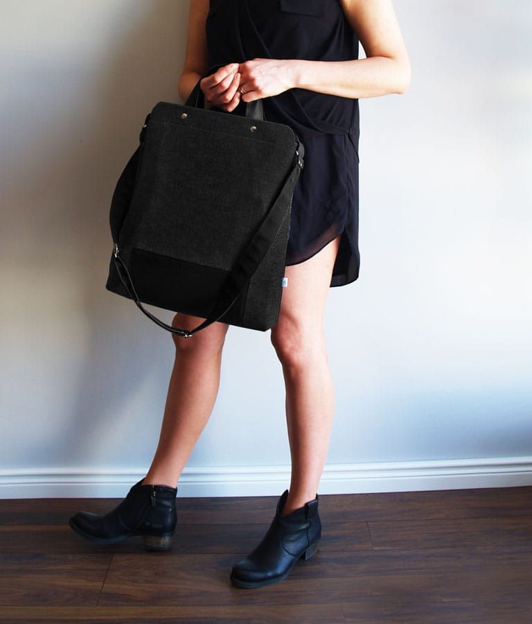 6a6d714cc8261 Czarna damska torebka z filcu na laptopa Czarna Maxi Black ...
