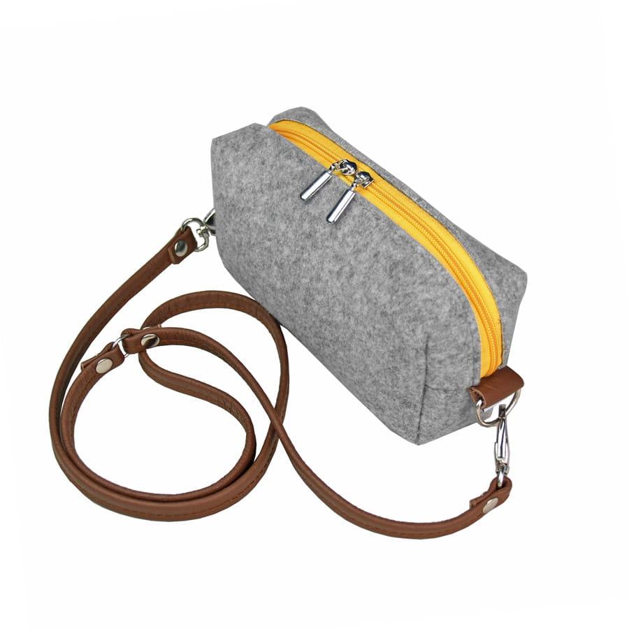 9d61da89a46d3 Mini torebka z filcu kopertówka na ramię torba damska filcowa na ...
